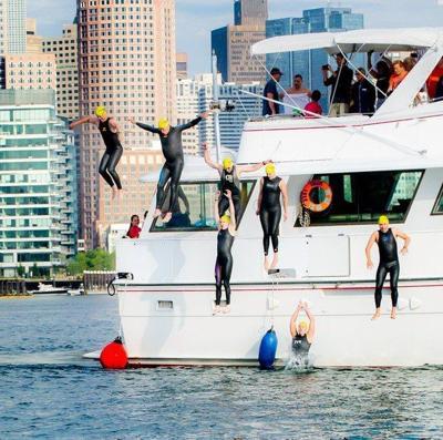 Two local swimmers will participate in Swim Across America's 23rd Annual Boston Harbor Swim
