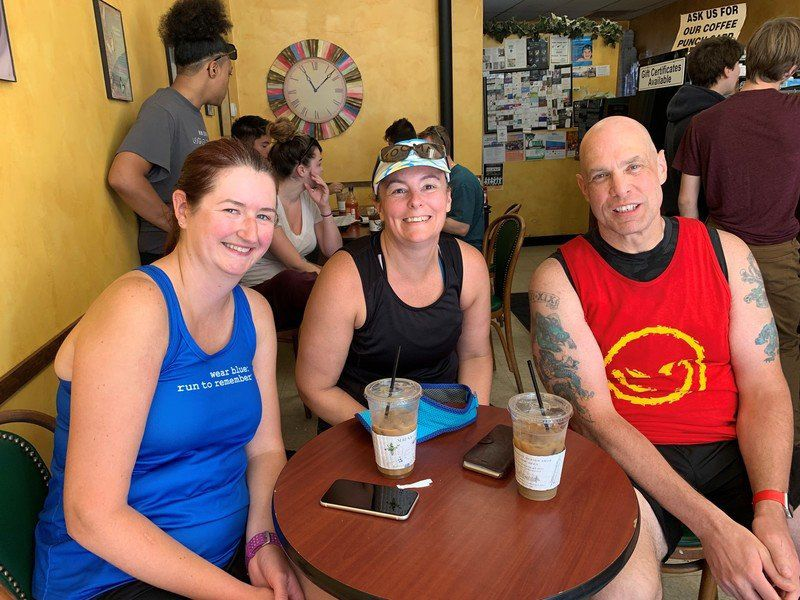Local runners honored to 'wear blue' to remember in Marine Corps Marathon