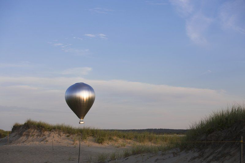Reflecting on the future: Mirrored hot air balloon represents 'New Horizon' for Trustees