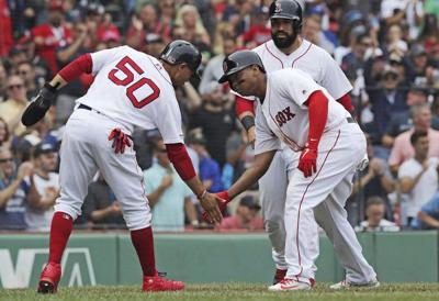 Mason: Finally finding his swing, Mookie Betts looking dangerous atop Red Sox lineup card