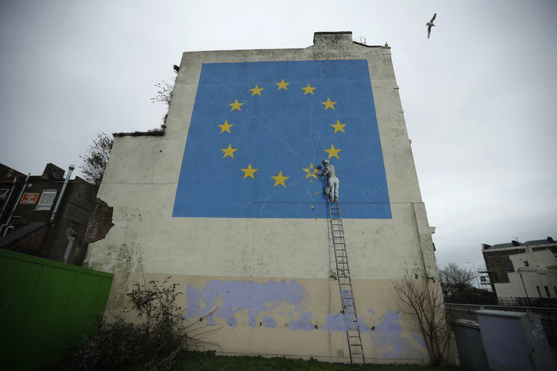 Banksy's Brexit mural disappears from wall in seaside port