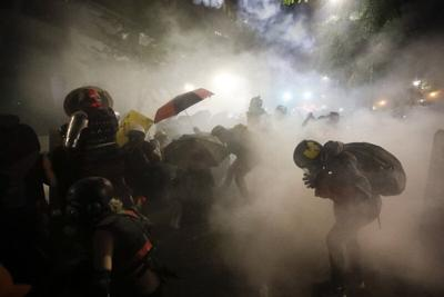 Police, protesters clash in violent weekend across the US