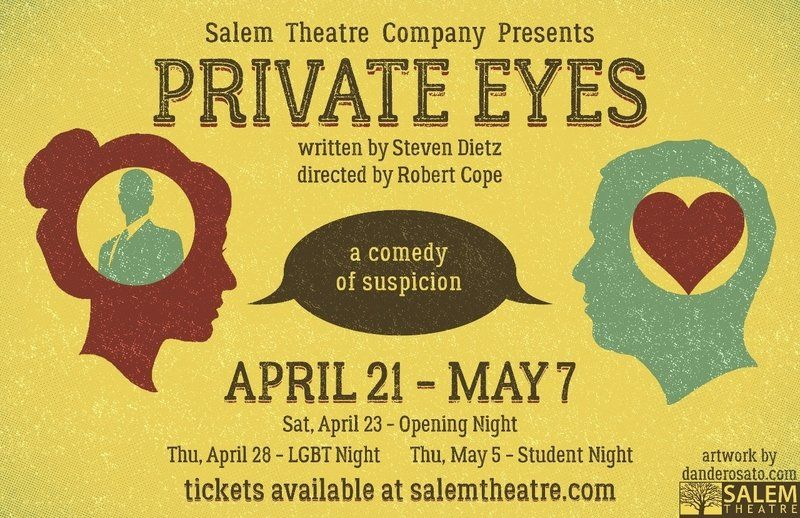 Salem Theatre Company stages Steven Dietz's 'Private Eyes,' a comedy of suspicion