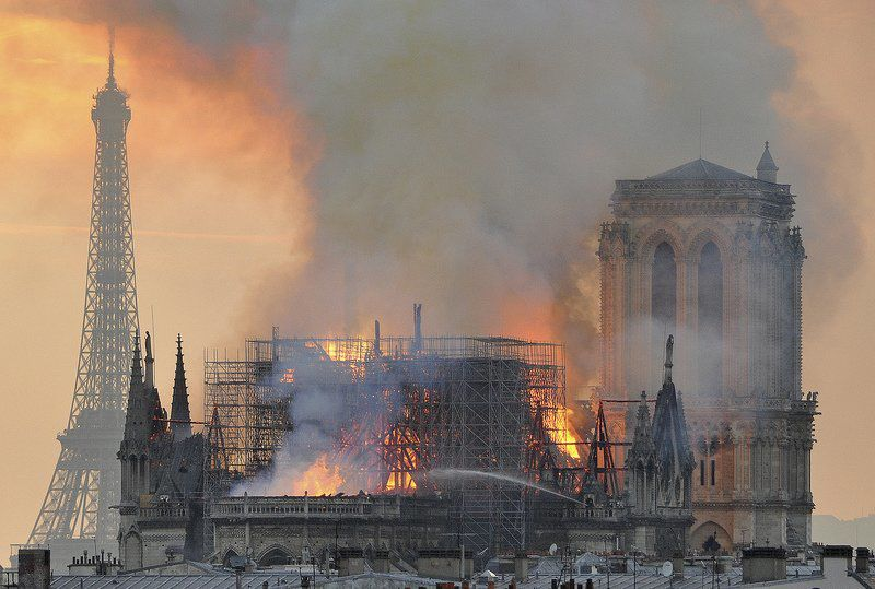 Students toured Notre Dame just before inferno