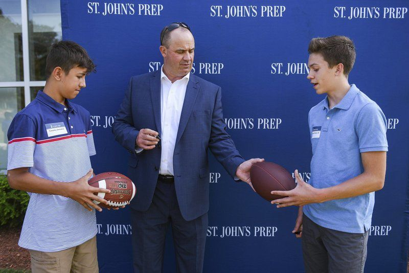 Texans' head coach O'Brien comes home to St. John's Prep for motivational talk