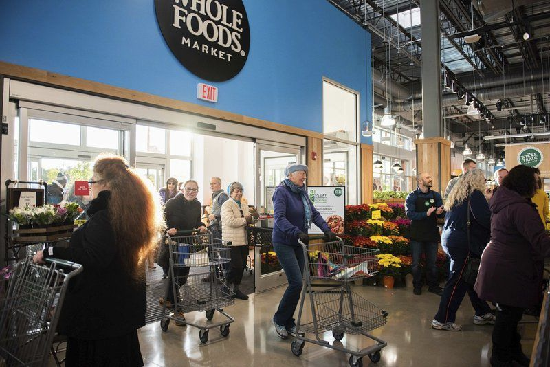 Customers flock to Whole Foods opening