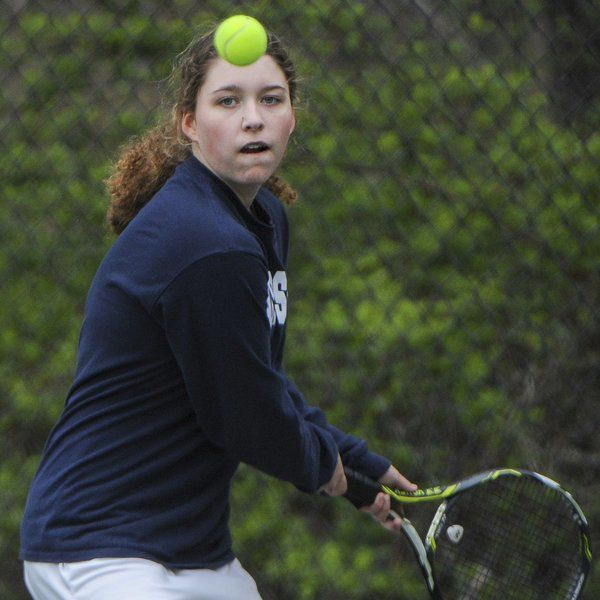 71f3f4b8dff TRIPLE TROUBLE: Swampscott's Tribendis triplets bring contagious energy to  tennis courts