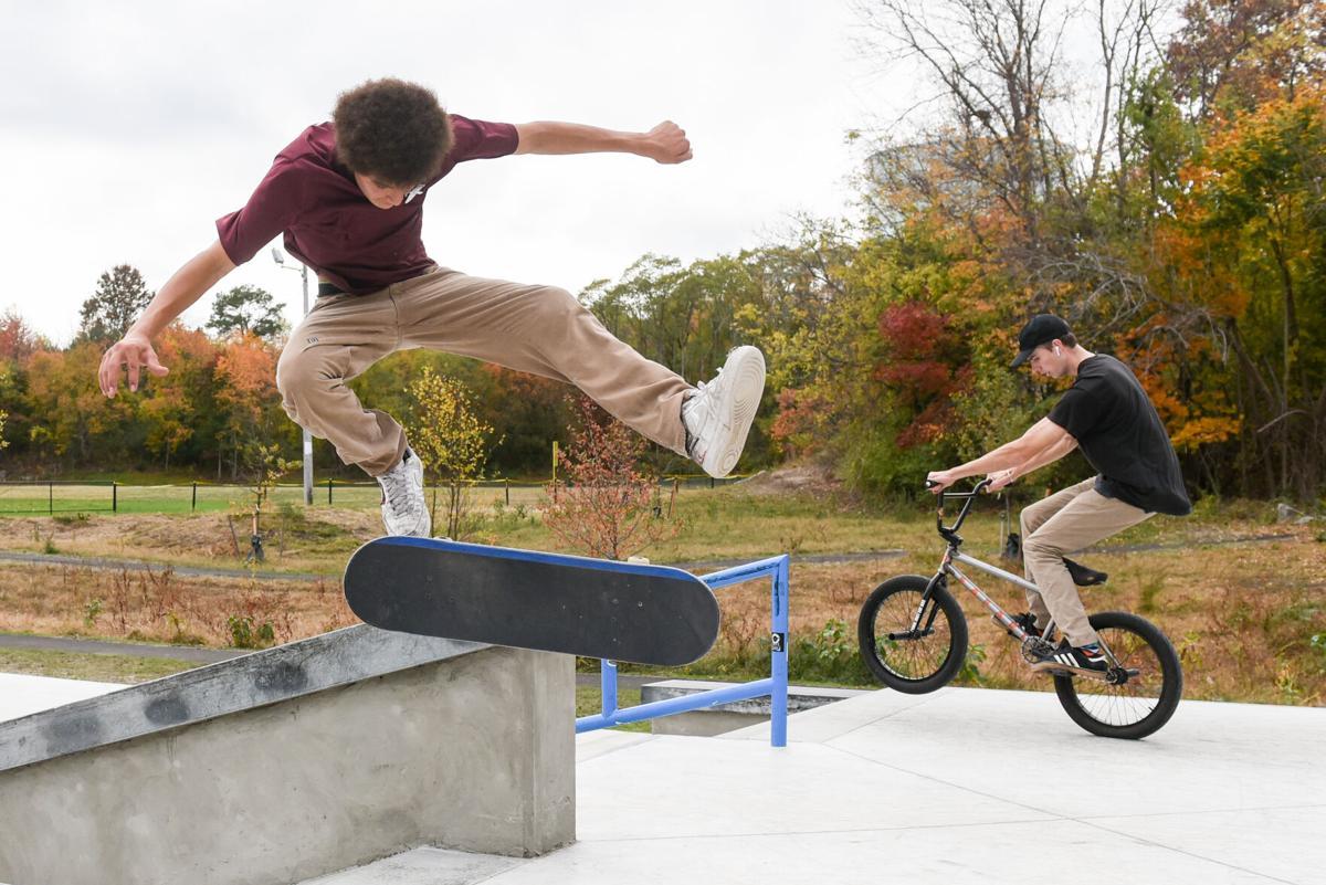 Gallows Hill Park playground, Ryan Brennan skatepark reopen