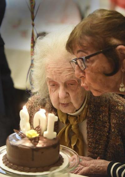 For Her 108th Birthday Cake And PBJ