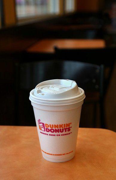 Styrofoam Cup Dunkin : Bye styrofoam braga says cape ann dunkin s stores
