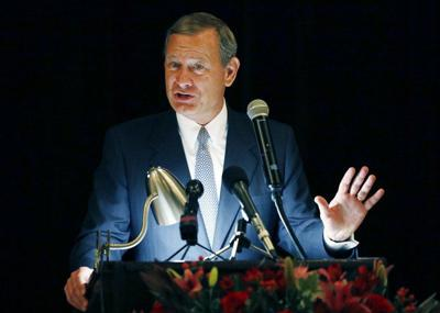John Roberts' brushback pitch at Trump comes with a big old asterisk