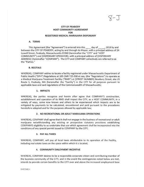 Peabody Draft Host Agreement Salemnews