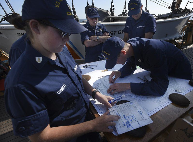 Aboard the Eagle Cadets learn the ropes on Coast Guard tall ship