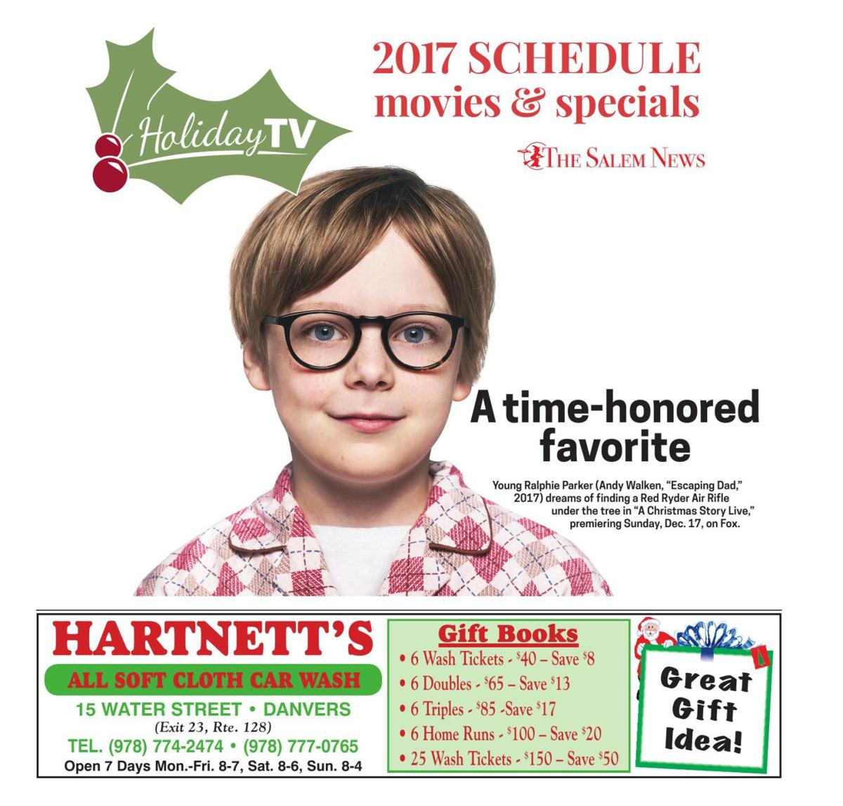 2017 schedule of holiday movies & specials