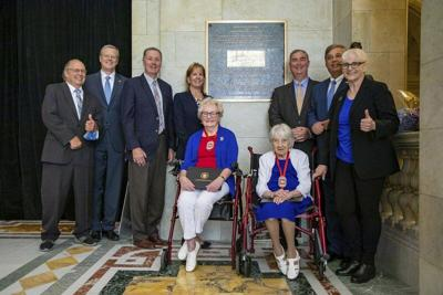 Statehouse plaque honors US Cadet Nurse Corps