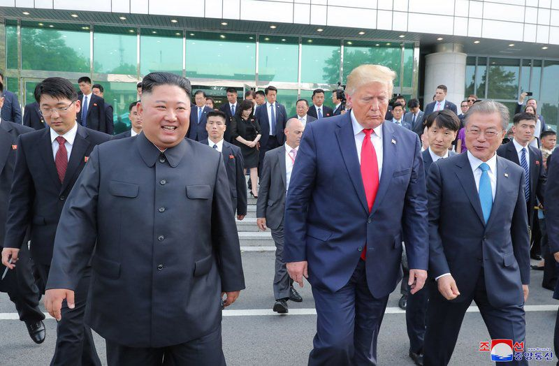 Trump and Kim's DMZ meeting mixes show and substance