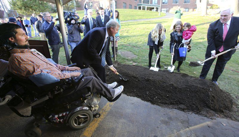 Endicott breaks ground on Pete Frates Hall