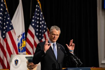 Baker allows some businesses rto re-open -- with limits
