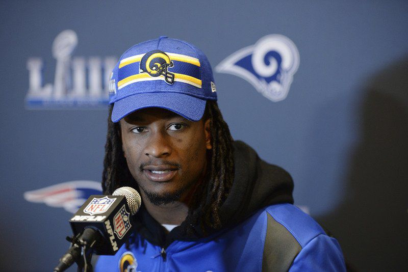 Bulldogs stick together Rams' Gurley says Patriots rookie Michel like a little brother to him