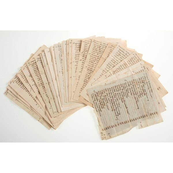 Holten letters up for auction