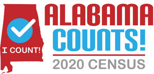 2020 Census logo - Alabama Department of Revenue