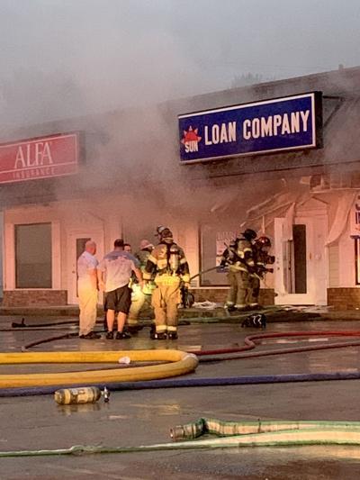 Fire at Albertville shopping center