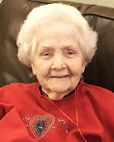 "Mildred ""Crawford"" Goss, 91, of Albertville, passed to her Heavenly Home on Feb. 4, 2020."