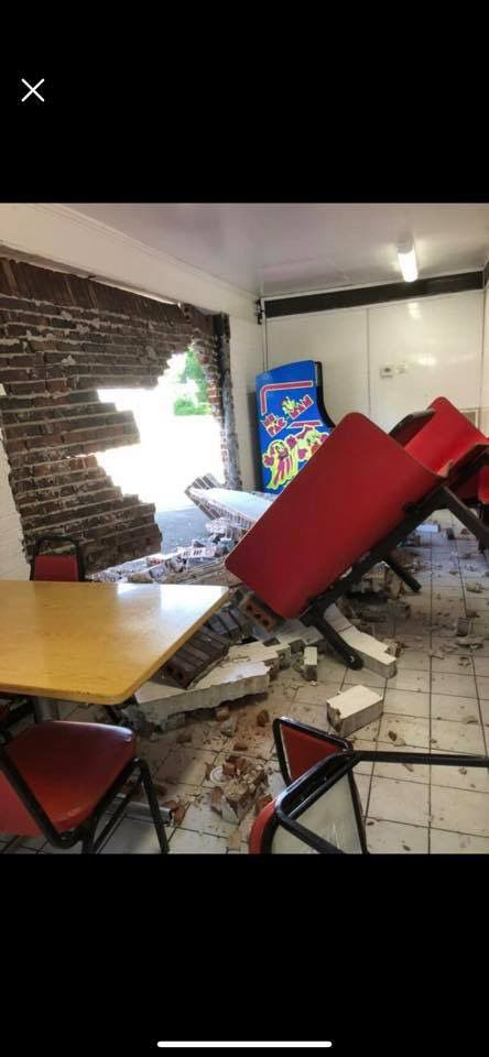 Car crashes into Bee Gee's | Restaurant remains open while under repair
