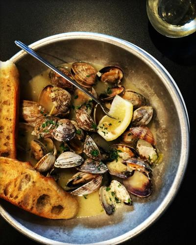 Just add wind and rain to this clam dish