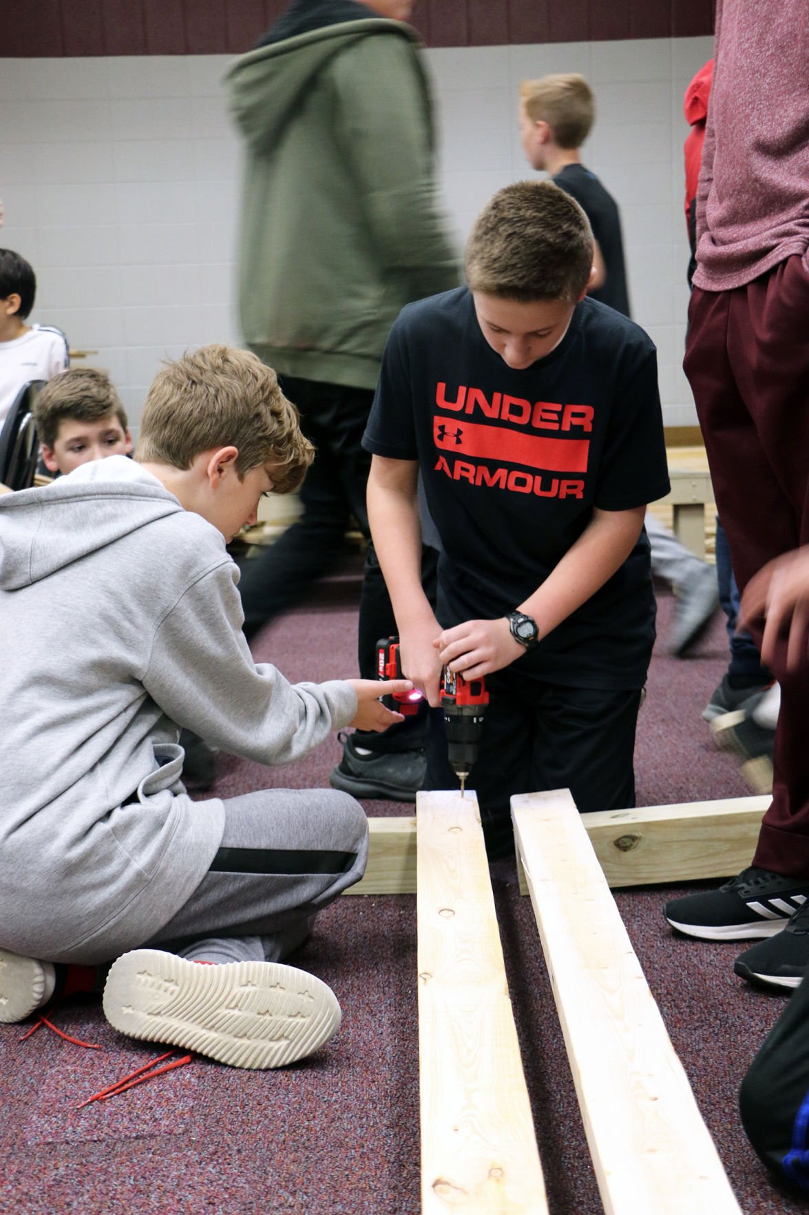 Pirates build beds for less fortunate | Seventh graders enjoy learning, giving back to community