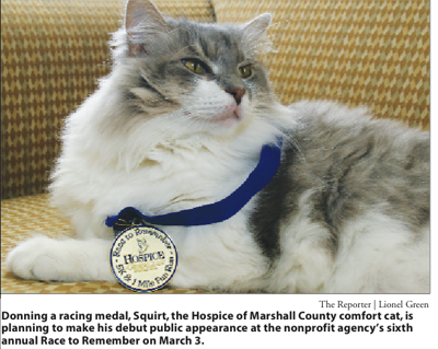 Squirt the cat to appear at Race to Remember