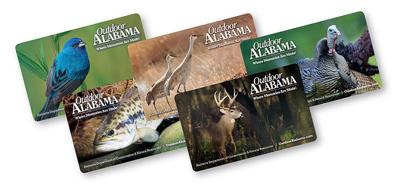 Hard cards available for hunting, fishing licenses