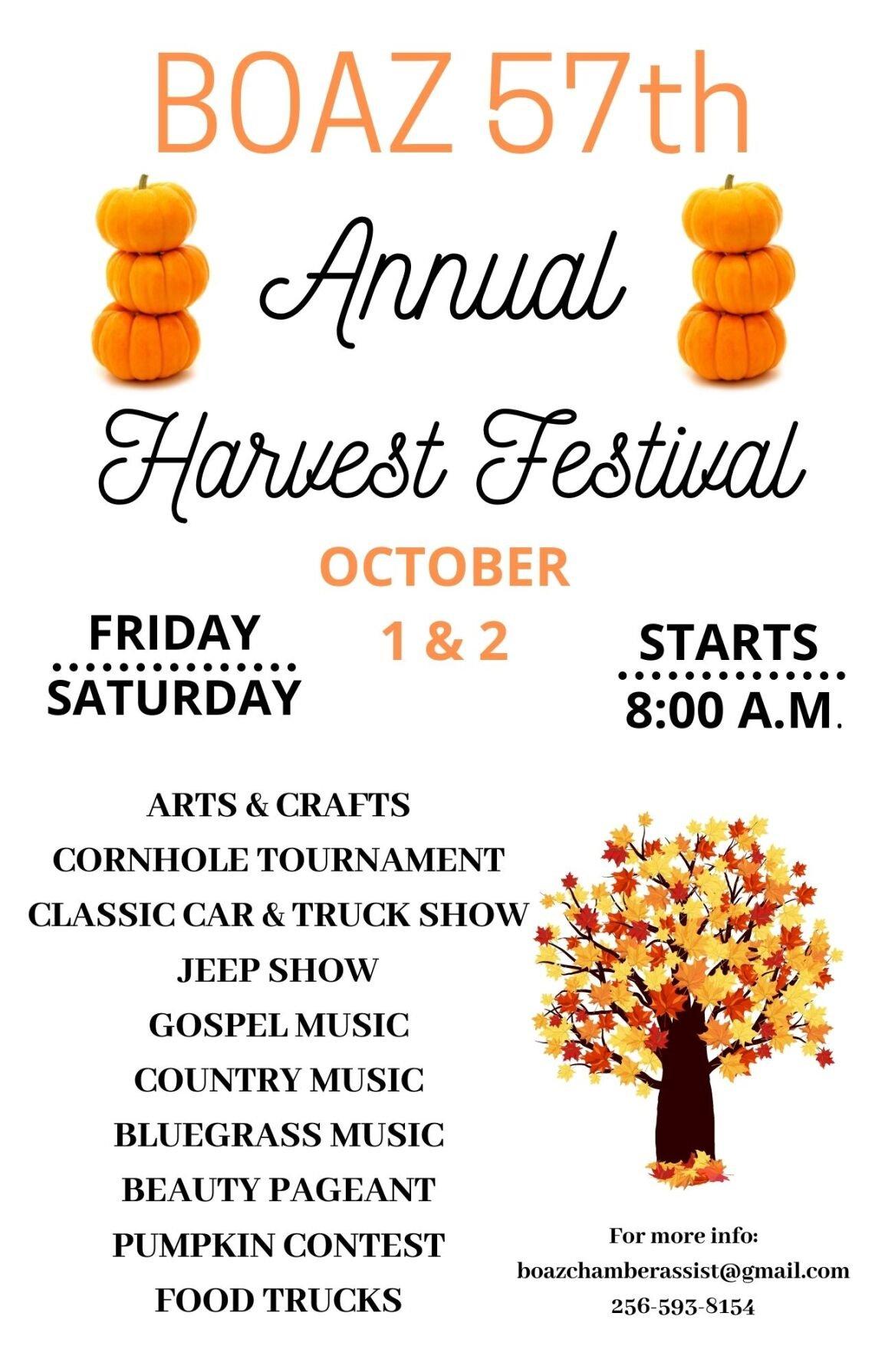 Boaz 57th Harvest Festival Flyer