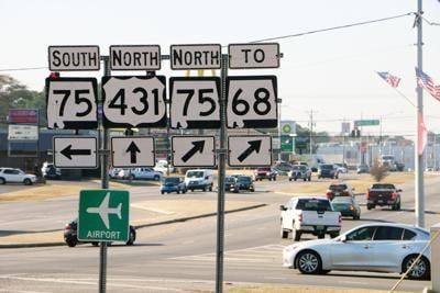 US 431, AL 75, AL 68 signs