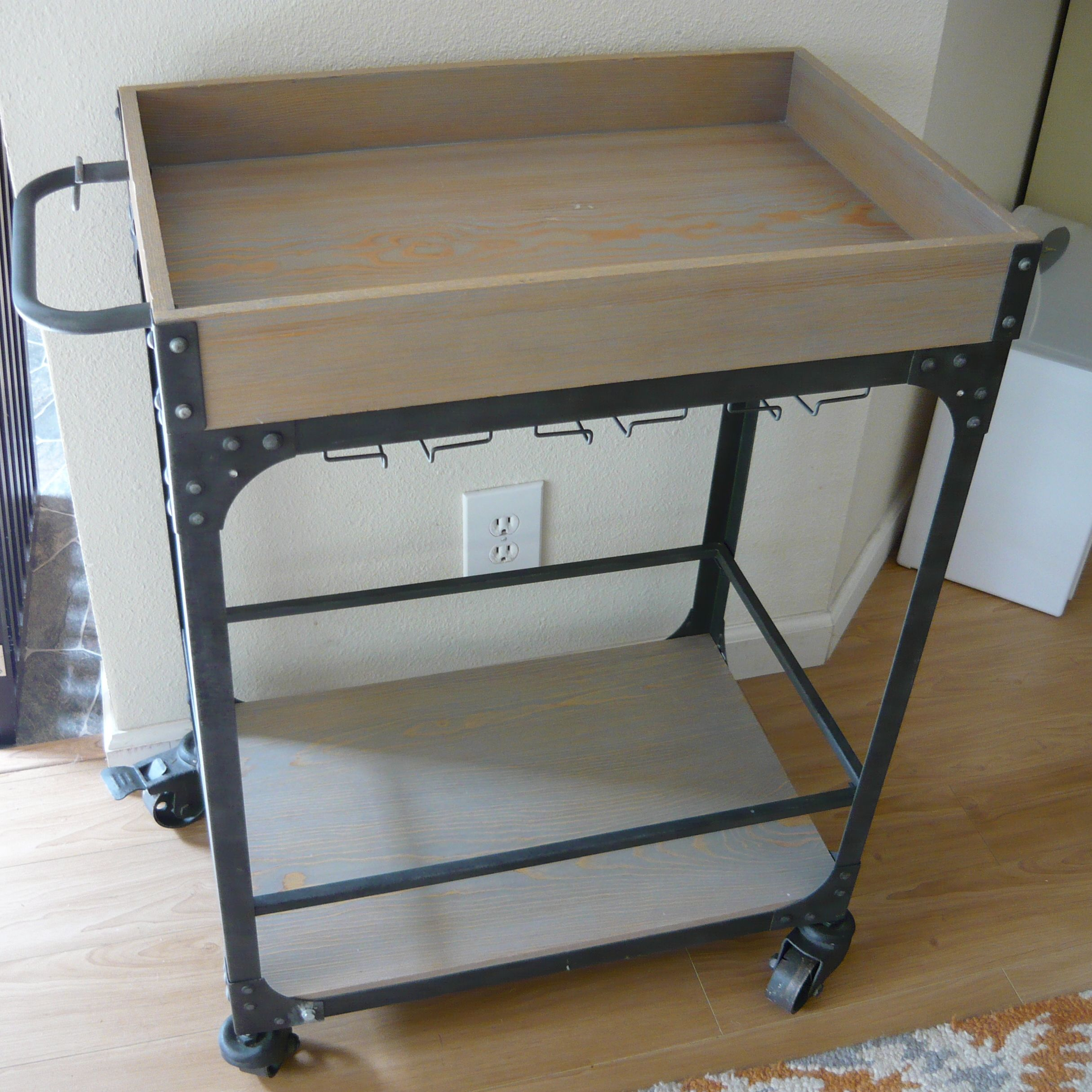 BAR CART with Glass' Rack $40 Retails at $128 image 1