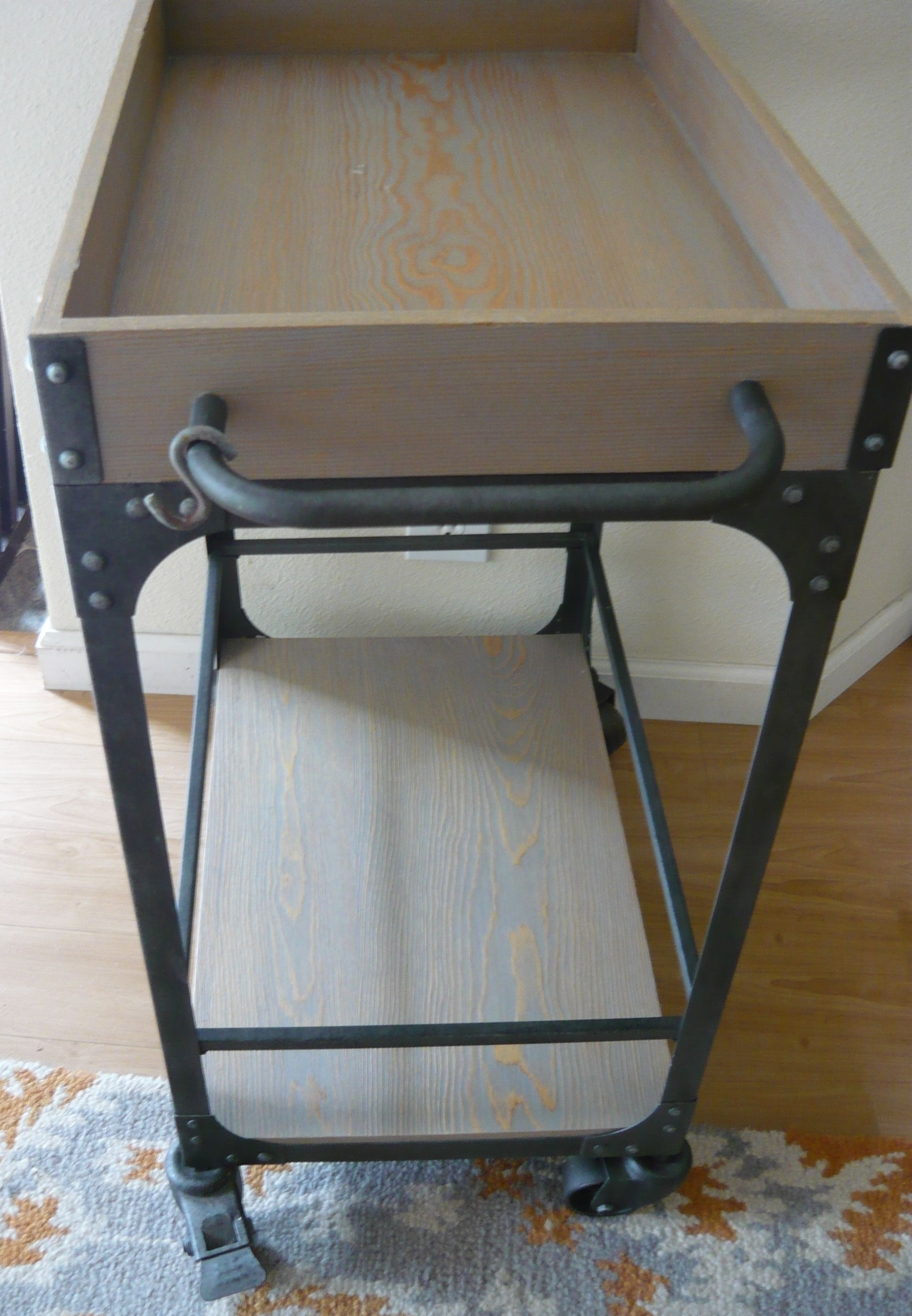 BAR CART with Glass' Rack $40 Retails at $128 image 2