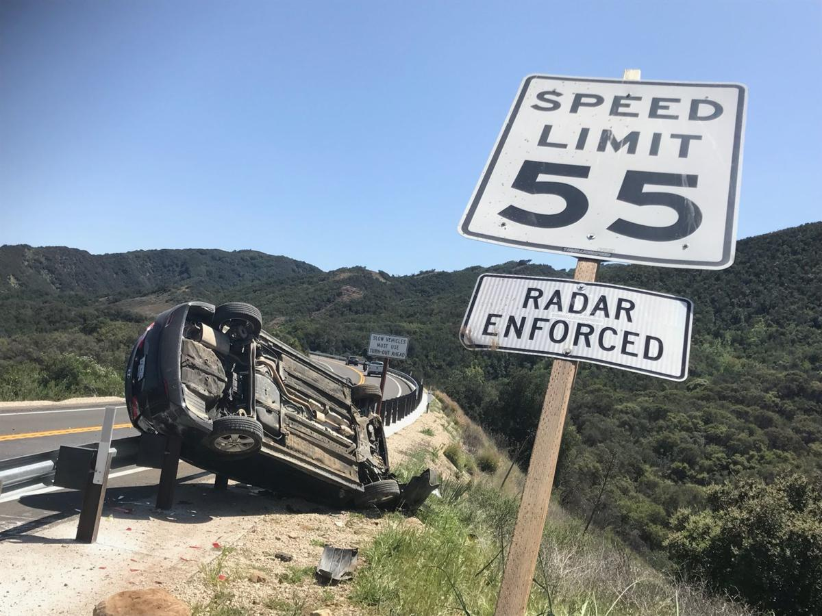 Rollover Highway 154 at Paradise Road -- 1