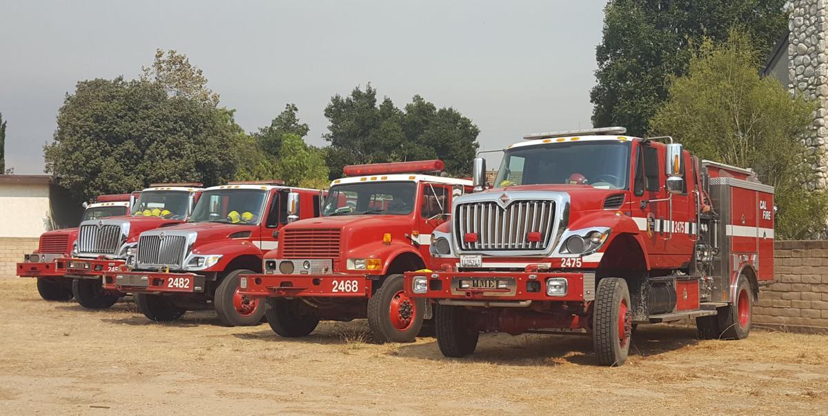 Cal Fire trucks in Solvang