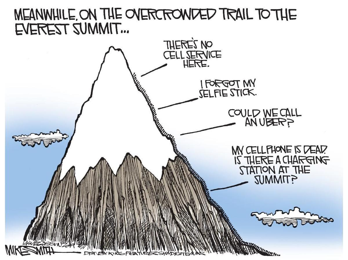 Cartoon: Overcrowded Everest