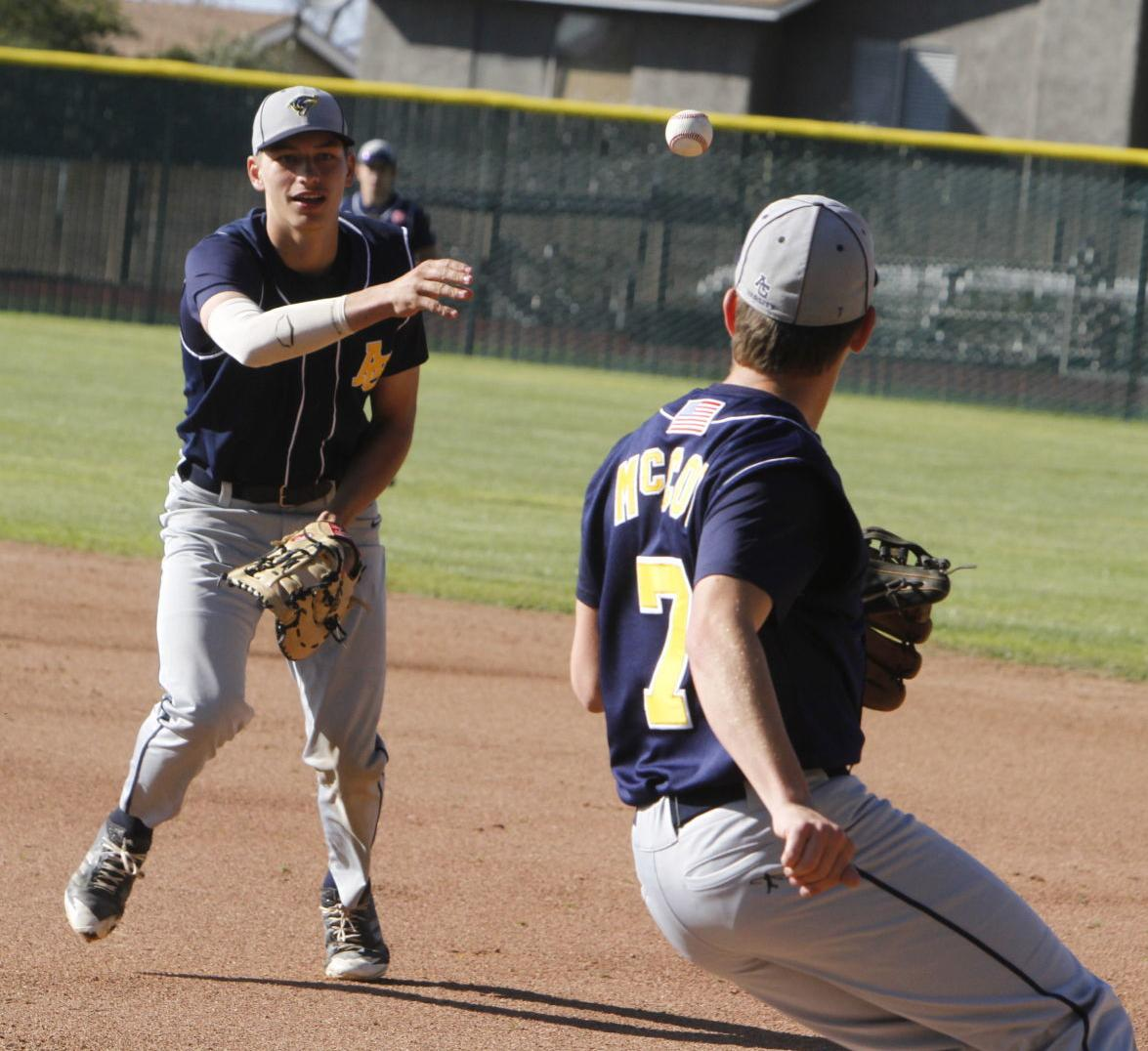 Athletics Tigers Game Suspended In 7th With A S Up 5 3: Baseball: Knights Drop Mountain League Opener To Arroyo