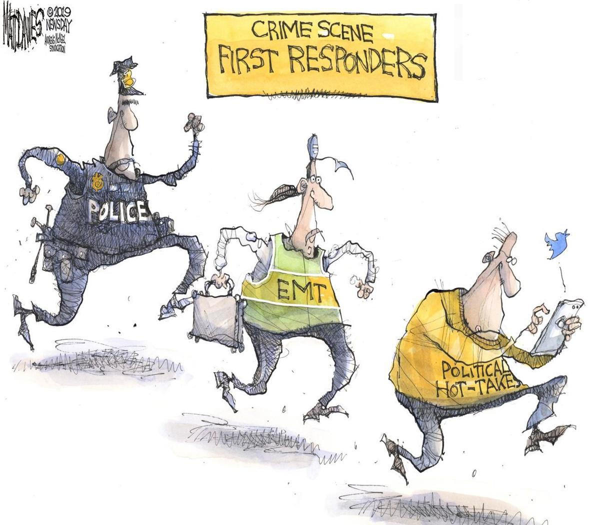 Cartoon: First responders