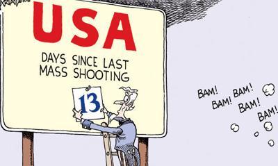 Cartoon: Last shooting