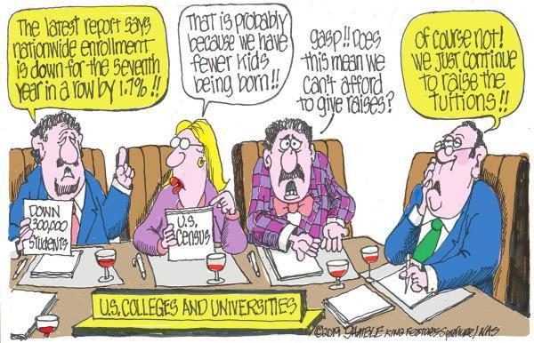 Cartoon: College daze