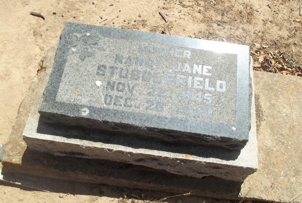 Gravesite of Nancy Jane Stubblefield