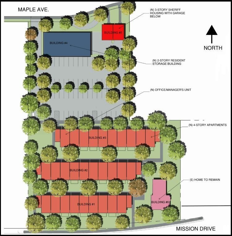 St. George apartments-site plan