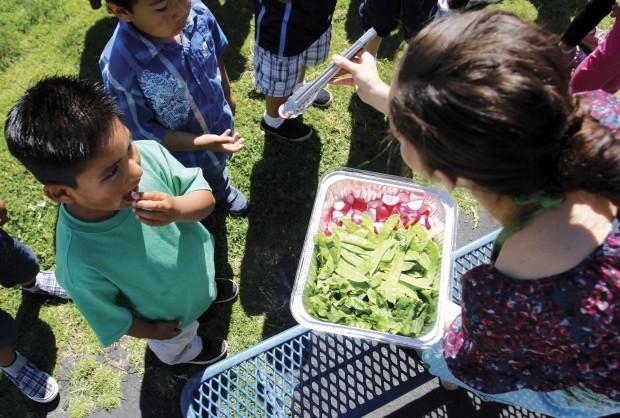 Harvest of Month visits school