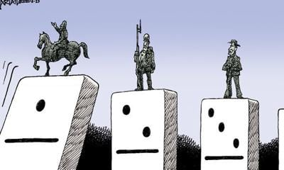 Editorial Cartoon: Dominoes