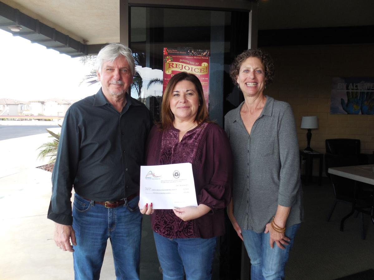 Altrusa presents $1,500 to Santa Maria Philharmonic Society