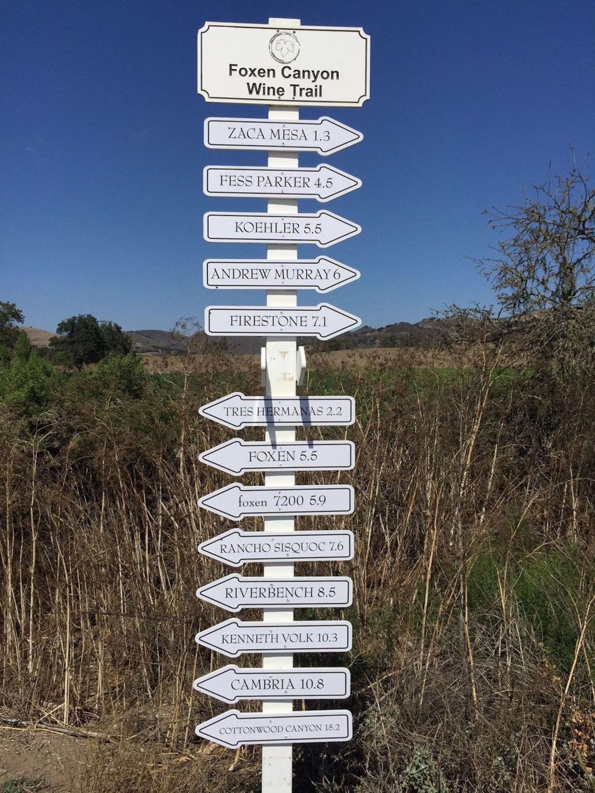 Thirteen wineries make up the Foxen Wine Trail