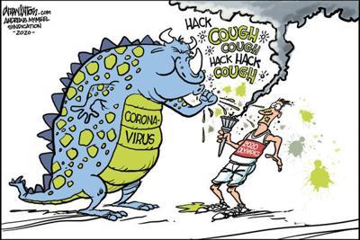 Editorial Cartoon: Cough